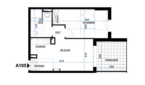 plan appartement t2