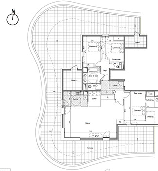 Novanea pr sente les appartements de type t4 anse 39 corail saint aygulf - Plan appartement 40m2 ...